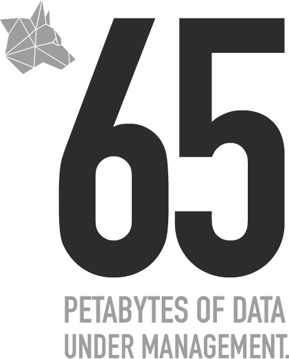 65 Petabytes of data under management